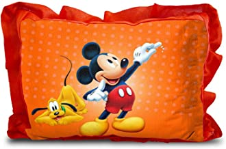 Rectangle Shape Cartoon Printed Micro Fabric and Velvet Baby Pillow - 12 x 18-inches