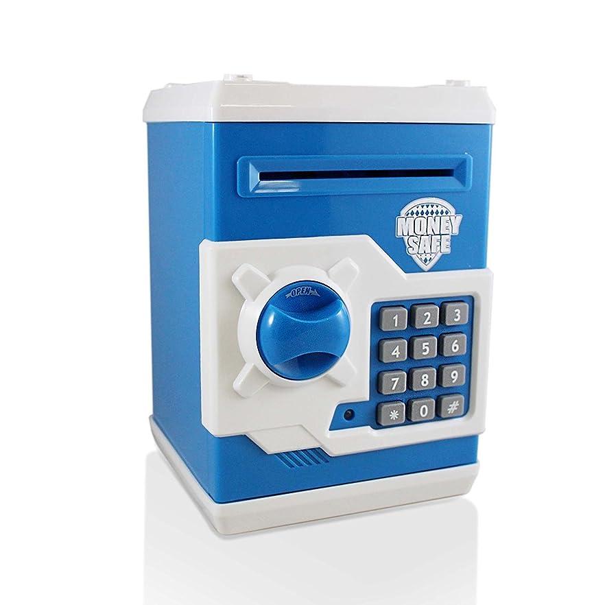製油所アライアンス規則性(Blue/White) - Adorn Life Atm Piggy Bank Money Box Coin Bank Electronic Password Money Saving Box For Children Birthday Christmas Gift, (Blue/White)