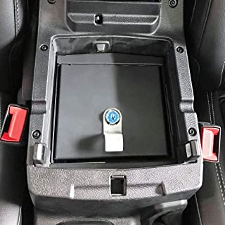Royalo Security Console Insert for Jeep Wrangler JL/JLU 2018-Current and Jeep Gladiator JT Truck 2020 Lock Box Lockable Console Safe Storages