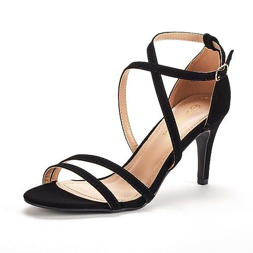 10c06423bb9 DREAM PAIRS Women s Fashion Stilettos Open Toe Pump Heeled Sandals