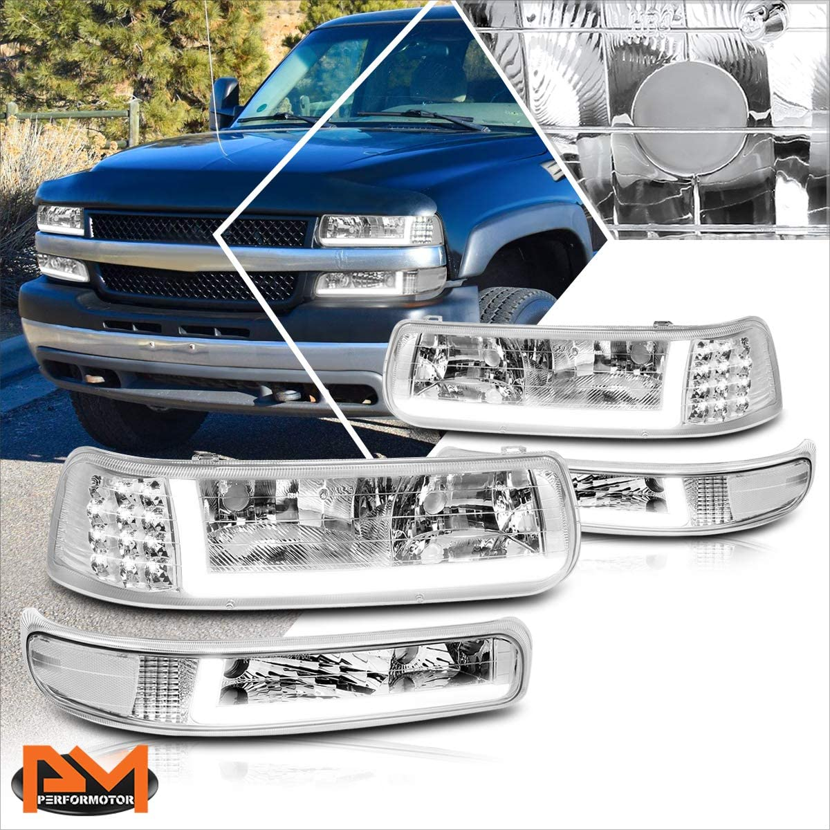 LED DRL Bumper online shopping Headlights Assembly with Luxury Chevy Compatible Silvera