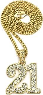 Shiny Jewelers USA Mens ICED Out # 21 Pendant 24
