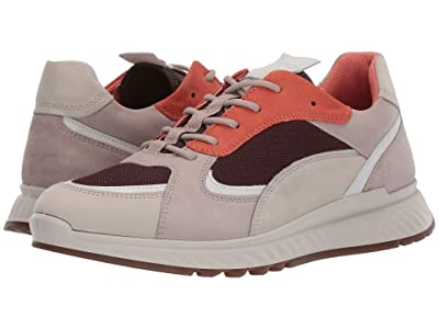 ECCO ST.1 Trend Sneaker (Gravel/White/Grey Rose/Apricot) Women