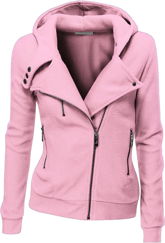 Juicy Trendz Womens Hooded Jacket Ladies Zip up High Neck Fleece Hoodie Top