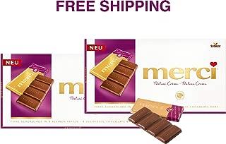 Merci Chocolate Tablets- CHOCOLATE PRALINÉ CRÈME 2 x 108 g, Merci / Germany