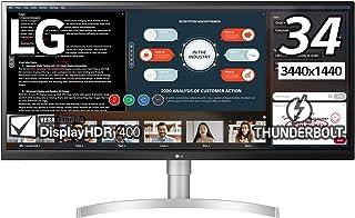 LG モニター ディスプレイ 34WL850-W 34インチ/ウルトラワイド(3440×1440)/Nano IPS非光沢/HDR/Thunderbolt3,DP,HDMI×2/スピーカー/高さ調節