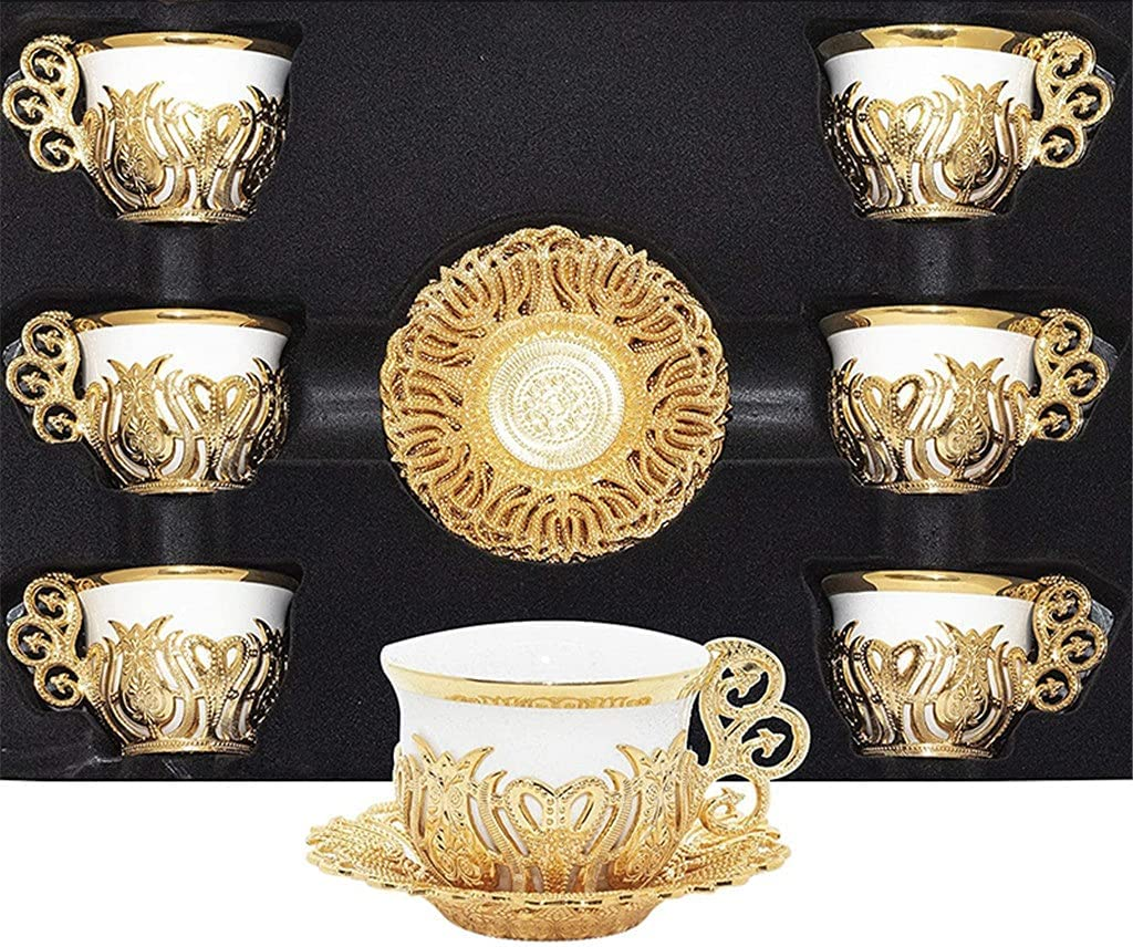 Opening large release sale Max 69% OFF DIAOD Coffee Espresso Cup Saucer Set Mix Porcelai 6 Person Color