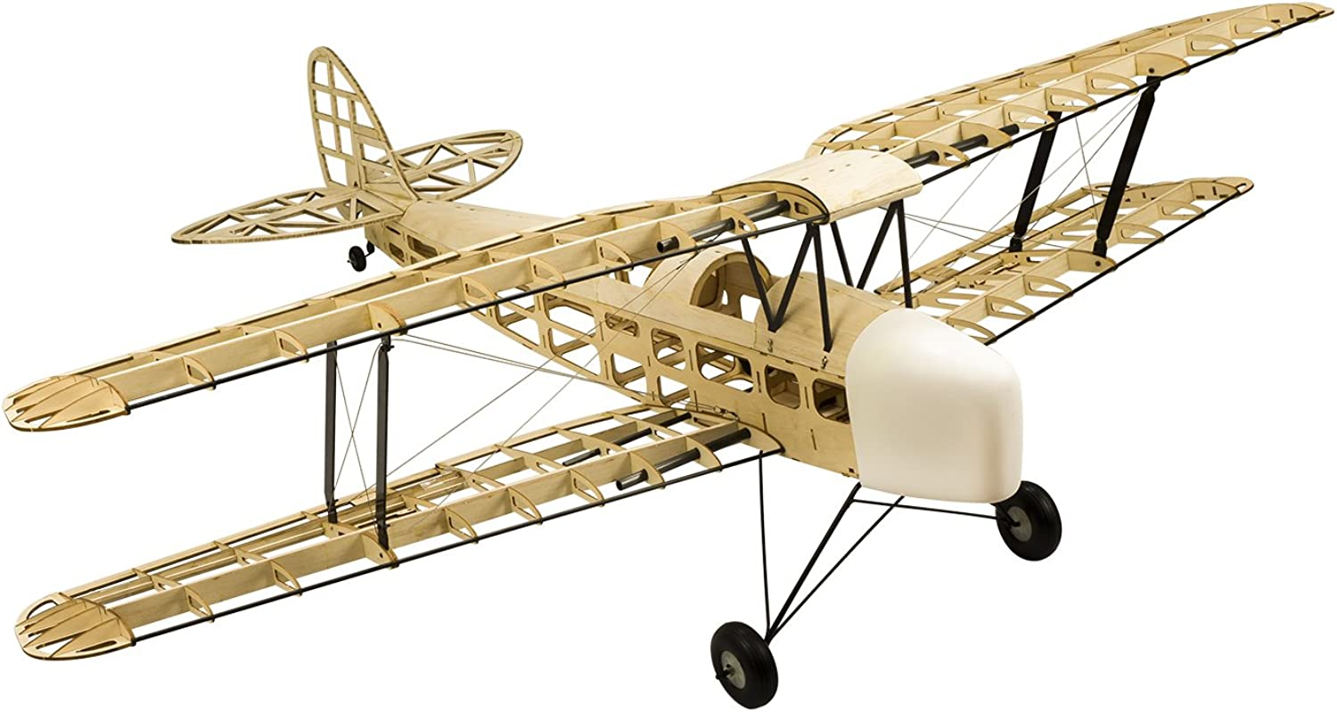 2017 New DW Hobby RC Airplane 4CH Radio Remote Controlled Electronic&Gas Aircraft De Havilland DH82a Tiger Moth Biplane WingSpan 1400mm Balsa Wood Model Plane Building Kit +Power System + Covering