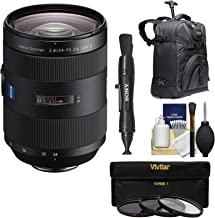 Sony Alpha A-Mount 24-70mm f/2.8Z Carl Zeiss T SSM II Zoom Lens with Backpack + Filters + Kit