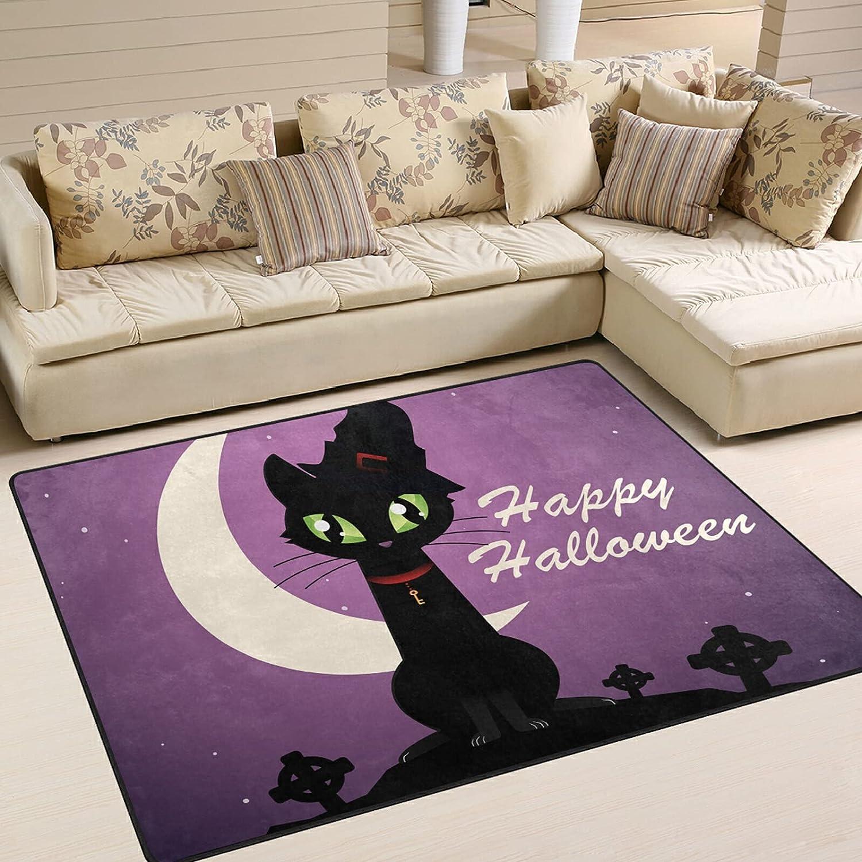 Modern Area Rugs 5x7 Washable - Cat Sof De Muertos Dia Halloween 35% Max 65% OFF OFF