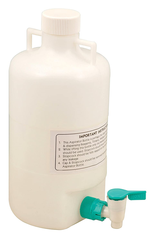 5 Liter Polypropylene Aspirator List Max 51% OFF price Bottle with Proof - Leak Spigot