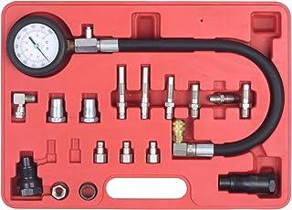 Fydun TU-114 Petrol Diesel Fuel Pressure Gauge Tester 90mm Fuel Injection Pump Diagnostic Tool Made of Copper Alloy Rubber