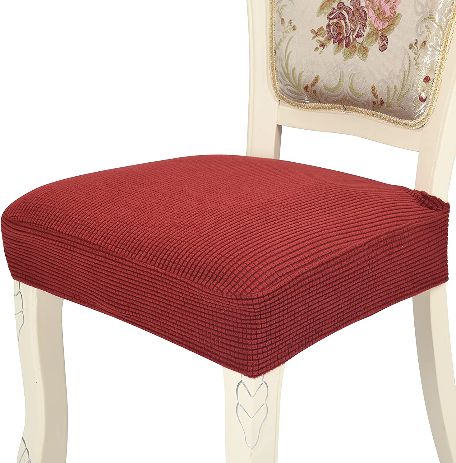 Chair Covers San Antonio Mall Product for Dining Room Chairs Set Red Rear-Cover Wine of 6