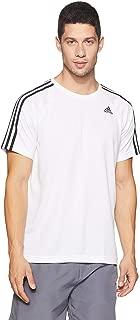 adidas Men's BK0970 D2M 3-Stripes T-Shirt, Black, 2XL