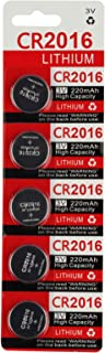 CR2016 Key Fob Remote Battery (5-Pack)
