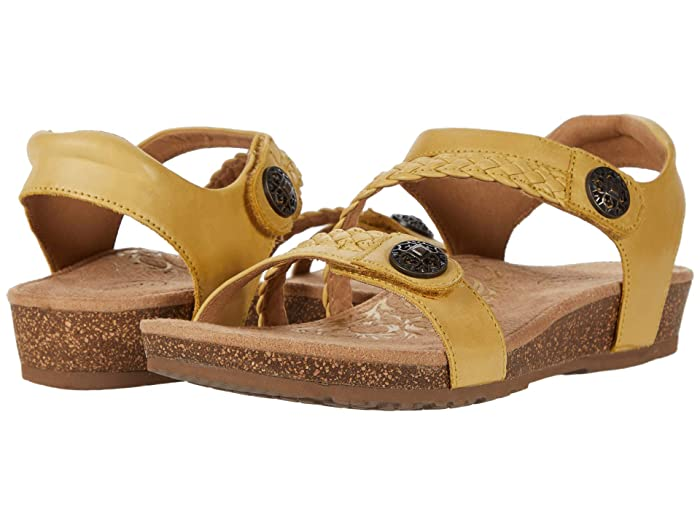 Aetrex  Jillian Quarter Strap (Lemon) Womens Sandals