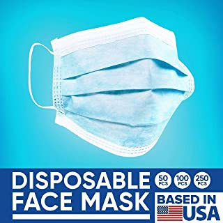 Disposable Face Masks – 50 PCS – For Home & Office – 3-Ply..