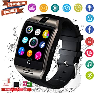 Smart Watch,Android Smartwatch Touch Screen Bluetooth Smart Watch for Android Phones Wrist Phone Watch with SIM Card Slot & Camera,Waterproof Sports Fitness Tracker Watch for Men Women Black