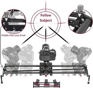 ASHANKS Camera Slider,100CM Carbon Fiber Follow Focus Camera Dolly Track Slider Video Stabilizer Rail for DLSR cameras(Max Load: 8kg/18lbs)