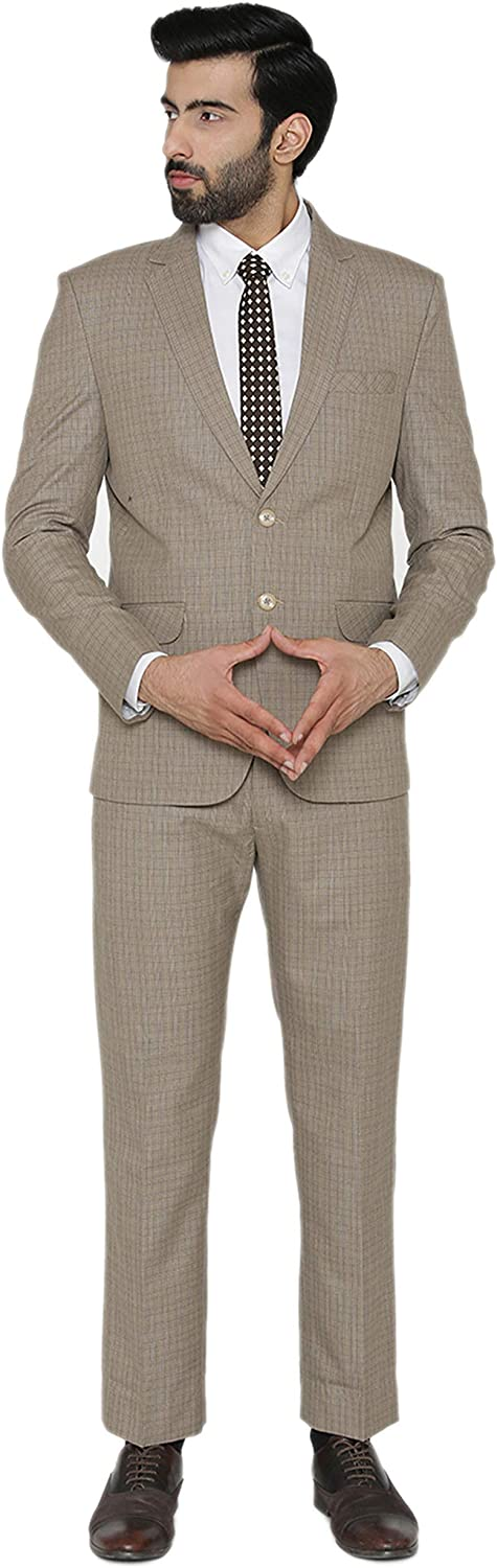 WINTAGE Men's Poly Cotton Wedding and Evening 2 Pc Suit