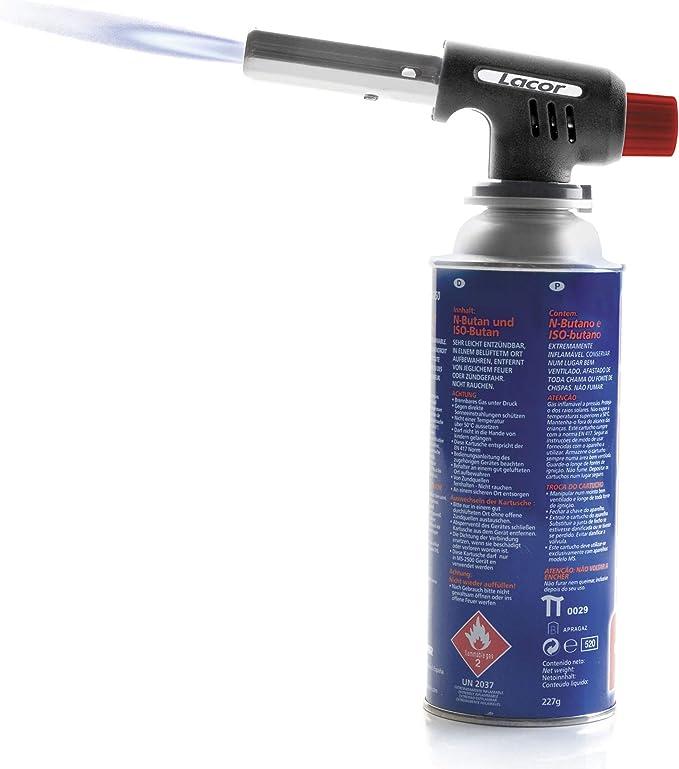 Lacor - 68968 - Soplete de cocina, Cabezal Soplete de Gas Profesional, Para tostar, gratinar, fundir, caramelizar o flamear los alimentos, Perfecto ...
