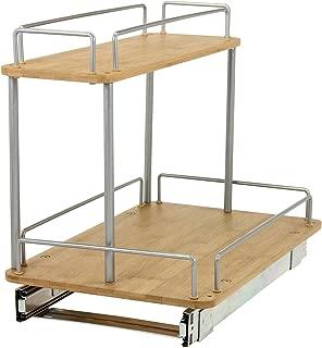 Household Essentials 1265B-1 Glidez Under Sink Sliding Organizer | Pull Out Cabinet Shelf | Wood | 11.5 Inches Wide