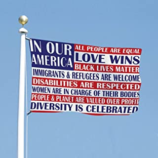 VinMea Flag Political Banner 3x5 Feet in Our America All People are Equal - Flags for Yard Garden Outdoor Decoration