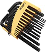 Portable Driver Tool Kit with Hinged Carry Case for Home Maintenance and Vehicle Repair Cr-V Alloy Steel Mount 25PCS Hex Key Set Professional Short Arm Long Arm Allen Key Wrenches Metric//SAE