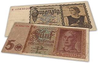 World War II - Germany, 2 Nazi Banknotes 1939-42 - Third Reich