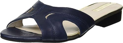 Kenneth Cole New York Wohommes Viveca Solid Flat Slide Sandal, Sandal, Navy Leather, 9 M US  en solde 70% de réduction