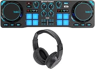 Hercules DJControl Compact USB 2-Deck DJ Controller Mixer+Samson Headphones