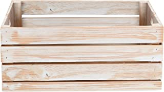 At Home on Main Handmade Rustic Crates (Large) (White)