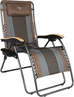 TIMBER RIDGE Oversized Zero Gravity Chair, Folding Patio Lounge Chair with Adjustable Headrest, XL Padded Reclining Lawn C...