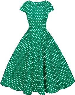 Amazon.com: Polka Dot - Plus Size / Dresses / Clothing: Clothing ...