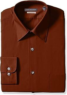 401ed5b2c4178 Van Heusen Men s Poplin Regular Fit Solid Point Collar Dress Shirt