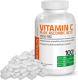 Vitamin C 1000 mg Premium Non-GMO Ascorbic Acid - Maintains Healthy Immune System, Supports Antioxidant Protection - 100 T...