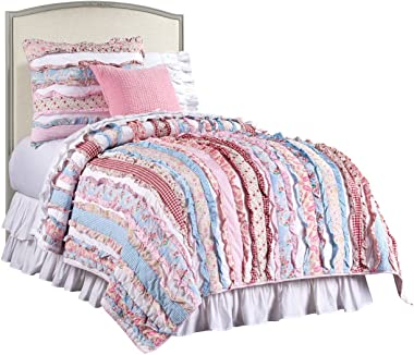 Stone & Leigh Clementine Court Kids Bed - Upholstered Headboard, Twin Bed for Kids