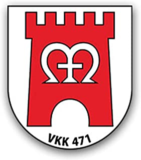 Dekal/Sticker VKK 471 Stabil kompani försvarskristando 6 x 7 cm#A2273