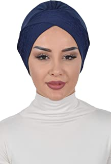 Instant Turban Cotton Scarf Head Wrap Trimmed Chemo Headwear Cancer Cap