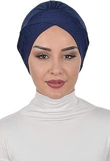 Instant Turban Cotton Scarf Head Wrap Trimmed Chemo Headwear Cancer Cap