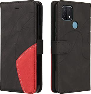 Hicaseer Case for Oppo A15,PU Leather Skin Feel Two colors Wallet Shockproof Protective Case with Stand Card Slot Magnetic...