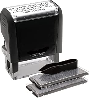 Economy Self-Inking Do It Yourself, Customizable Message or Address Stamp, Impression Size: 3/4 x 1-7/8 Inches, Black (5915)