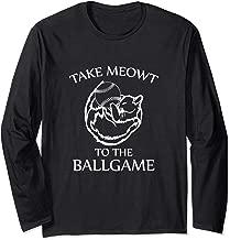 Long Sleeve Baseball Cat Shirt Take Meowt To the Ballgame