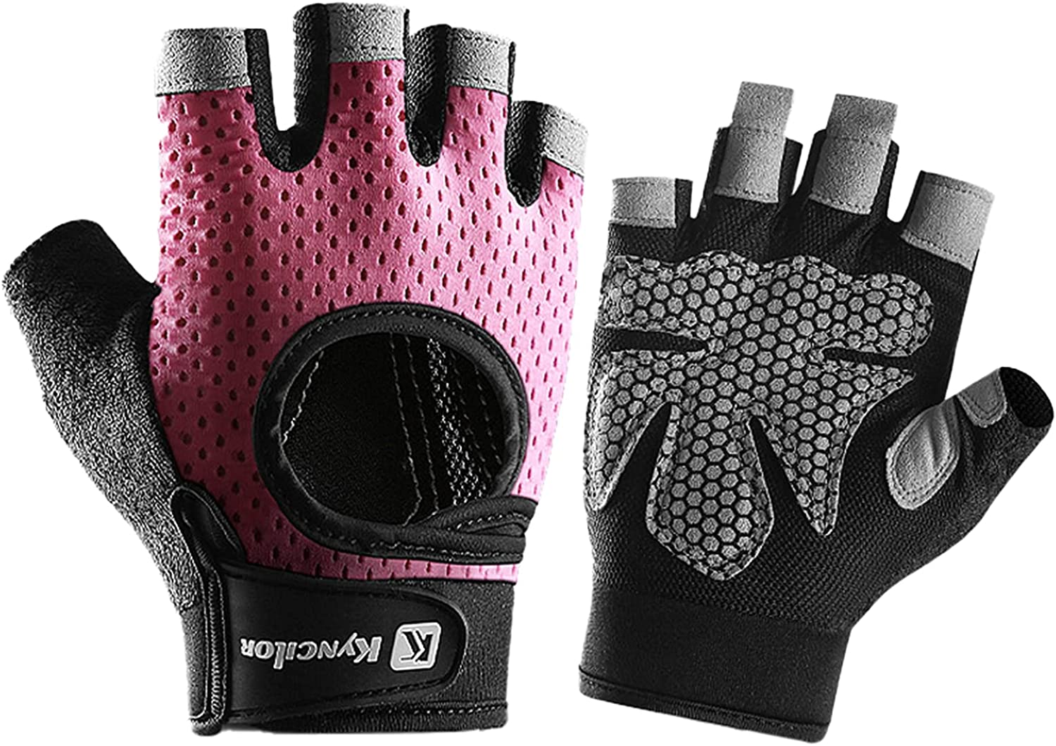 TOLUON Max 57% OFF Cycling Gloves Workout Half Protectio Finger Palm Charlotte Mall