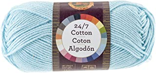 Lion Brand Yarn 761-102 24-7 Cotton Yarn, Aqua