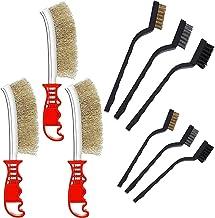 LCOUACEO Set van 9 draadborstels, handdraadborstel, roestvrij stalen borstel, kleine draadborstel, nylon messing roestvrij...