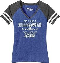 Comical Shirt Ladies Can I Get A Hallelujah Amen Game V-Neck Tee