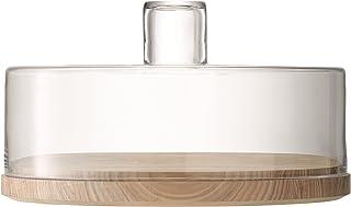 LSA LW08 - Dôme à Fromage/Pâtisserie Lotta Transparent & Fond frêne Ø32 cm *