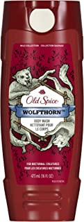 Old Spice Wild Wolfthorn Scent Body Wash for Men, 16 oz (Pack of 4) (Packaging May Vary)
