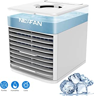 YTDTKJ 2020 Mini Cube Air Conditioner, Desktop Air Cooler, Personal Mobile Chiller Fan, 7 Colors LED, Wind Speed Direction Adjustable, Portable USB Humidifier, Portable Chiller for Indoor Outdoor